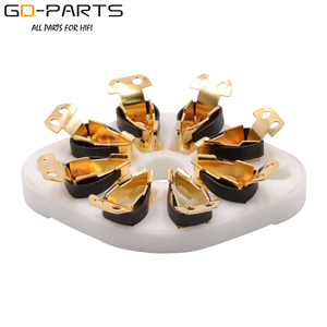 Image 2 - GD PARTS 10PCS Chassis Mount 8pin K8A Octal Ceramic tube sockets for KT88 EL34 6SN7 5AR4 GZ34 5881 6V6 5U4G 6550 6J7 6SJ7 6CA7