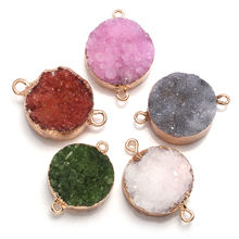 Натуральный камень соединитель изысканные круглые кристаллические