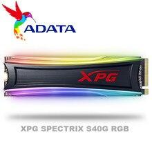 Adata xpg spectrix s40g rgb pcie gen3x4 m.2 2280 unidade de estado sólido para desktop portátil disco rígido interno 256g 512g