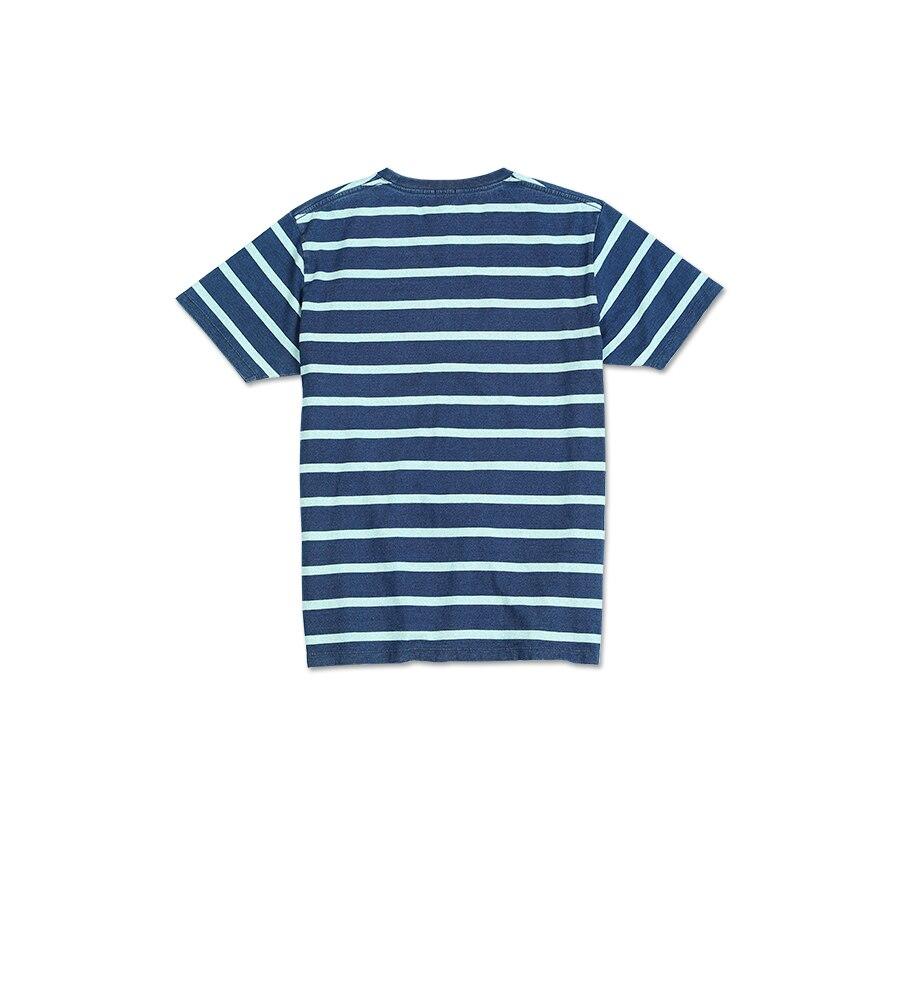 homens vintage contraste listrado 100% algodão topos casais t camisa sj130075