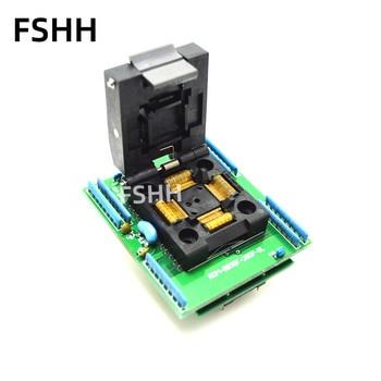 ROM-80SQF-28DP-8L programmer adapter IC51-0804-808 test socket TQFP80 LQFP80 QFP80 to DIP28 adapter