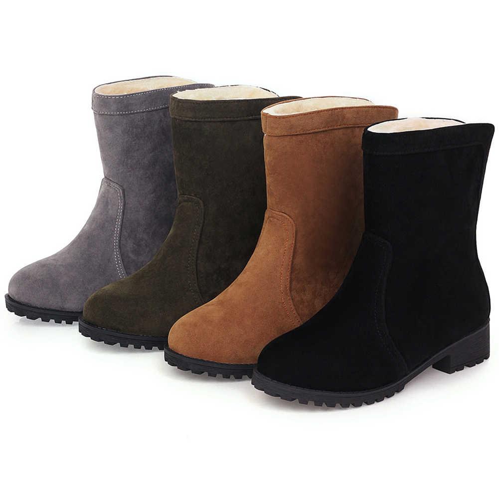 KARINLUNA yeni 34-46 toptan ayak bileği kar botları kadın 2019 moda döndü üzerinde kenarları kürk botları bayanlar kış sıcak ayakkabı kadın