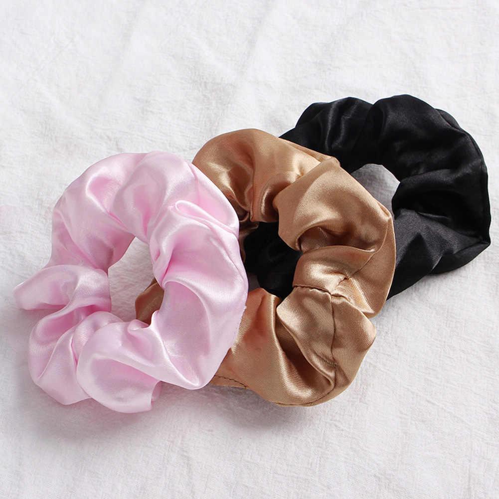 ใหม่แฟชั่นสี Retro Minimalist ผมผ้าพันคอผู้หญิง Scrunchie ยาง Headbands ผมอุปกรณ์เสริม