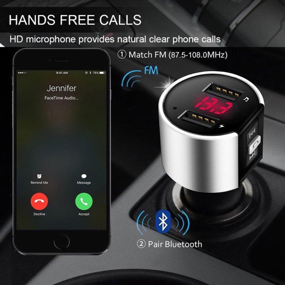 Bluetooth Автомобильный MP3 плеер FM беспроводной передатчик 5 V/3.4A двойной USB ЖК зарядное устройство комплект громкой связи аудио приемник i #1204|MP3-плеер для авто|   | АлиЭкспресс