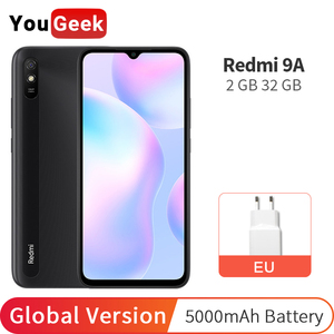 Global Version Xiaomi Redmi 9A 2GB RAM 32GB ROM 5000mAh Battery MTK Helio G25 Octa Core 13MP Camera 6.53