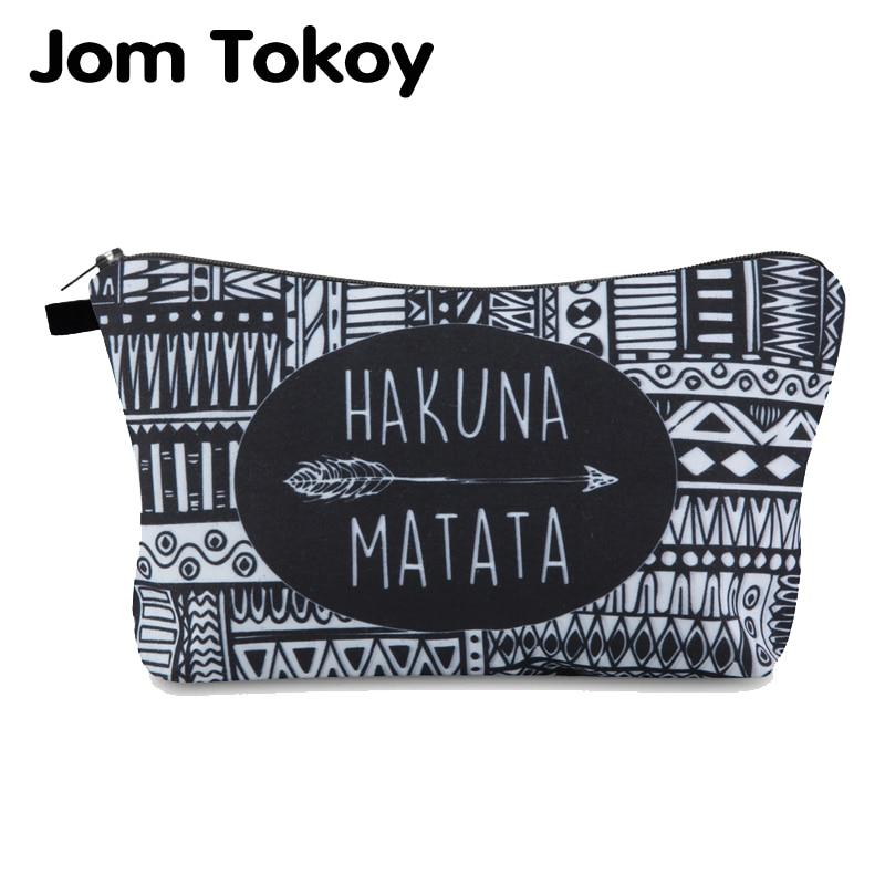 Jomtokoy Cosmetic Bag Waterproof Alphabet Pattern Digital Printing Multifunctional Makeup Bag For Travel Customized Your Lmage