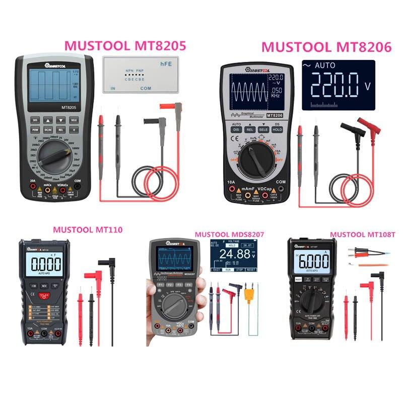 MUSTOOL MT8205 MT8206 MDS8207 MT108T MT110 2 In 1 Digital Intelligent Handheld Storage Oscilloscope Multimeter AC/DC Resistance