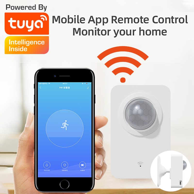 Mini PIR Motion Sensor Home Security System Infrared Motion Detector With USB Small Movable Tuya Smart Life APP Control