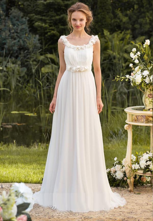 Elegant Chiffon White Sequined Bridesmaid Dresses 2020 Long A Line Wedding Party Prom Dresses Formal Occasion Graduation Dresses