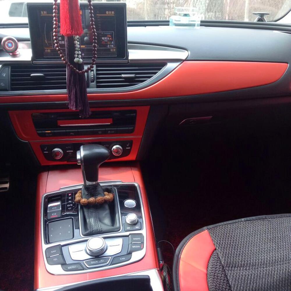 Car-Styling 3D/5D Carbon Fiber Car Interior Center Console Color Change Molding Sticker Decals For Audi A6 C7 2012-2018