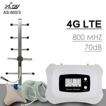 300 Metro quadrato 70dB Guadagno 4G LTE 800mhz Banda 20 Mobile Ripetitore Del Segnale Del Telefono 4G LTE Cellulare cellulare Ripetitore di Segnale Amplificatore