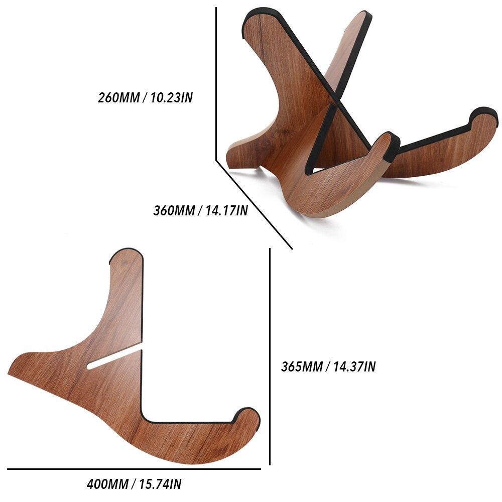 Support de guitare Portable en bois crochet support de support pliable pour guitares cadeaux cordes pièce d'instrument