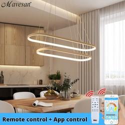 Lámpara colgante LED moderna en línea accesorios para comedor dormitorio suspensión lámparas colgantes iluminación del hogar para cocina AC 90-260V