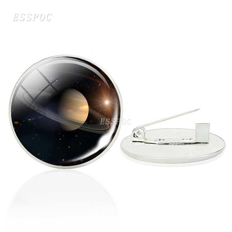 Солнечная система полная луна Броши Булавки стекло кабошон Галактическая Туманность планета значок украшения Вселенная подарки