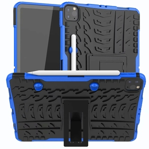Image 2 - Defender Stand TPU PC Shockproof Protective Silicone Plastic Armor Case For iPad Cover Mini Air 1 2 3 4 5 6 Pro 9.7 10.5 11 10.2
