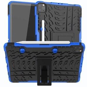 Image 2 - Defender Stand TPU מחשב עמיד הלם מגן סיליקון פלסטיק שריון מקרה עבור iPad כיסוי מיני אוויר 1 2 3 4 5 6 פרו 9.7 10.5 11 10.2