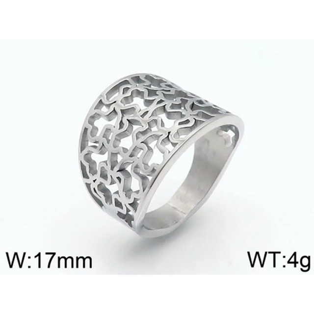 Unadjustable Finger Ring Stainless Steel 6