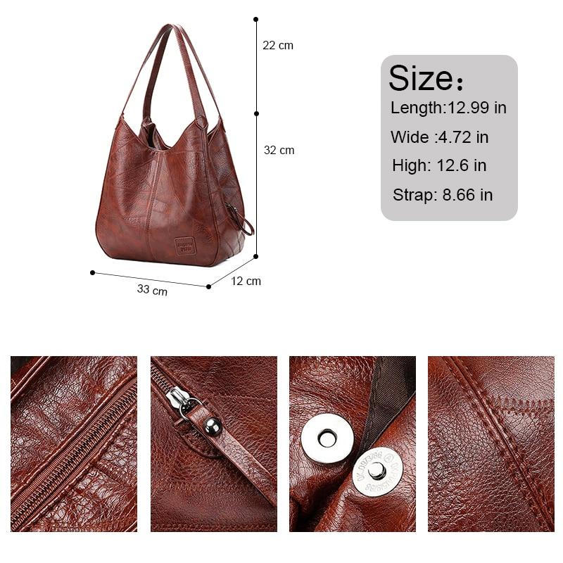 Vintage Shoulder Bag Female PU Leather Womens Bag Designers 2021 Luxury Totes Fashion Top-handle Bags Travel Bag for Ladies 3