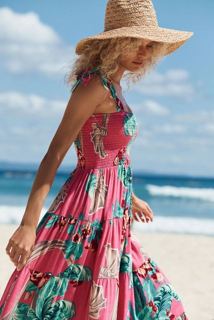 Fashion Summer Women Dress Square Neck Sling Print Sexy Halter Beach Dress Women's Casual Holiday Dresses 2021 New Vestidos 3