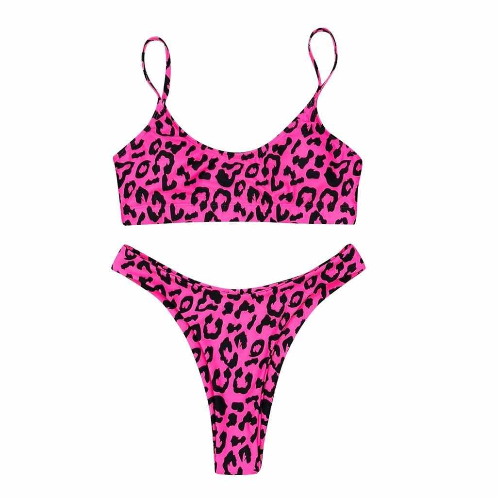 Sexy Bikini set Badmode Vrouwen Leopard Serpentine Print Bikini Twee Stuk Badpak Solid Zwemmen Badpak Strand WearDGH3
