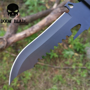 Image 4 - Black 8CR13MOV Steel Tactical Blade Straight Knife 57HRC Knives Good for Hunting Camping Survival Outdoor and Everyday Carry
