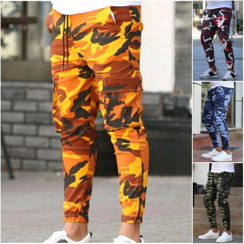 2020 Men Jogger Autumn Pencil Harem Pants Men Camouflage Military Pants Men Loose Comfortable Cargo Trousers Men Camo Joggers