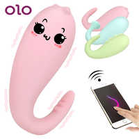 OLO 8 Frequency Silicone Vibrator Wireless Remote control APP Bluetooth Connect Monster Pub Vibrator Sex Toys for Women