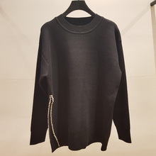 High quality womens sweaters 2019 Fall/winter elegant pearls beading loose pullovers sweater tops A731