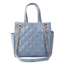 Women Bag Totes Handbag Chain Crossbody-Bag Plaid Fashion Ladies Luxury Brand PU Promotional