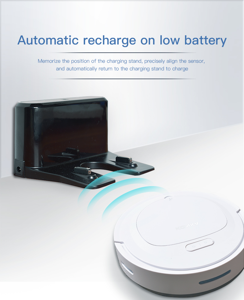 IKONKA V88 Automatically Chargeable Robot Vacuum Cleaner For Hard Floors and Carpet 18