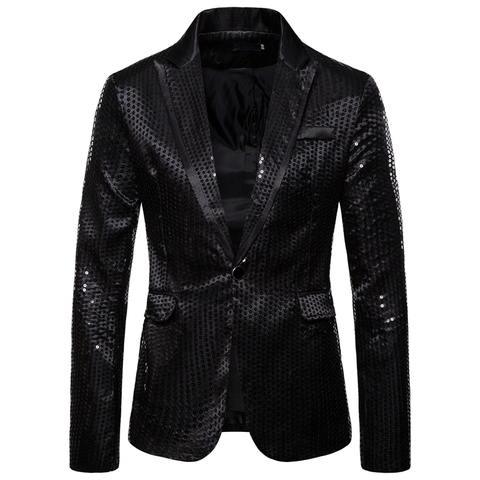 Laamei Male Master Sequins Dresses Stage Costumes Men Suit   Clothing  Suits & Blazer Show Jacket Outerwear Karachi