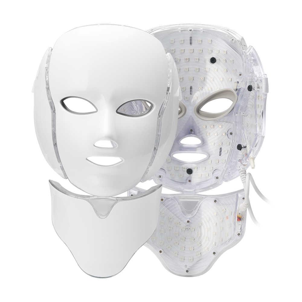 7 สีความงามบำบัด Photon LED หน้ากากบำรุงผิวฟื้นฟูริ้วรอยกำจัดสิวความงามคอใบหน้า Spa Instrument