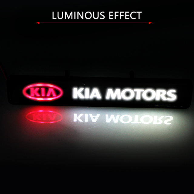 Light Grille Emblem For KIA Ceed Sportage Optima Rio Soul Niro Sorento Carnival Forte Cerato Car Front Exterior Led Decortion 4