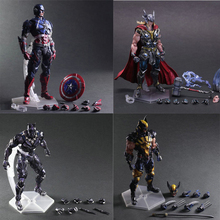 25cm The new listing Marvel Super Heroes Avengers Black Panther Captain America Thanos Thor  Man   Hulk Action Figure