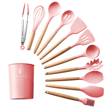 Upspirit Kitchen Utensils Set Cooking Kit Silicone Accessories Spaghetti Food Clip Oil Brush Spatula Egg Beater Kitchen Tools