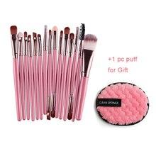 15pcs Professional Makeup Brush Set Eye Shadow / Blush / Lip / Foundation Brush Makeup Tools Kit High Quality недорого