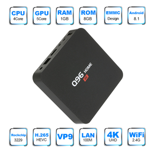 Image 2 - Q96 בית חכם אנדרואיד 8.1 טלוויזיה תיבת RK3229 Quad Core 1 GB/8 GB UHD 4K Media Player 2.4G WiFi H.265 סט למעלה תיבה עם שלט רחוק