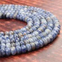 Natural Blue Dot Gem 5x8x4x6MM Abacus Bead Spacer Bead Wheel Bead Accessory For Jewelry Making Diy Bracelet Necklace