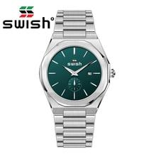 SWISH Men Business Watches 2020 Silver Fashion Quartz Chronograph