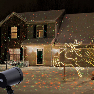 Outdoor Laser Projector Sky Star Spotlight Showers Landscape DJ Disco Lights R&G Garden Lawn Christmas party(China)