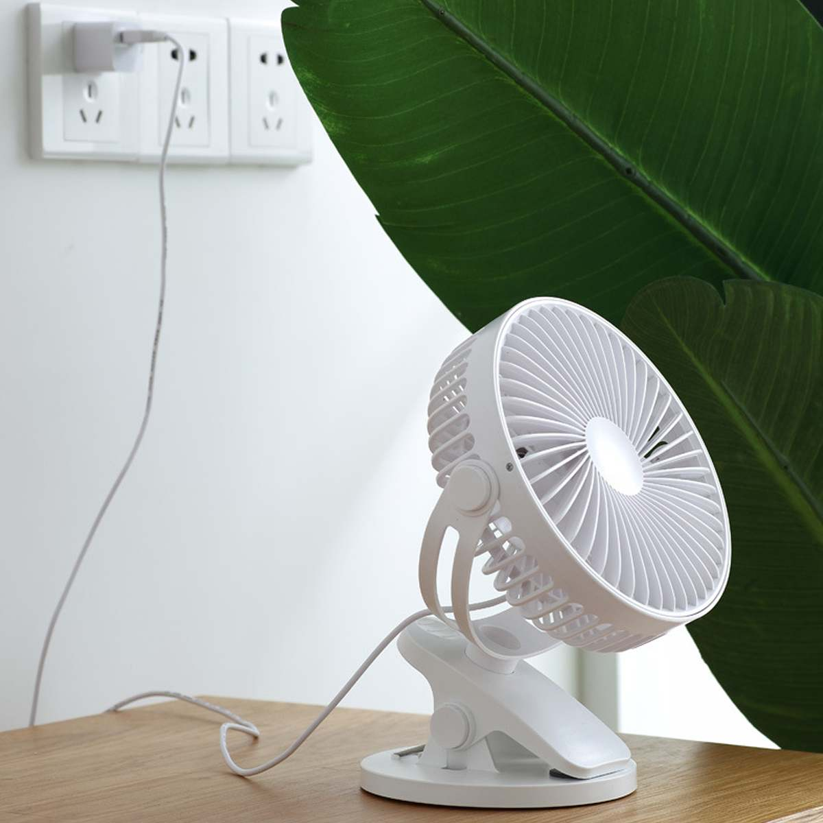 4/6 Inch USB Clip Desktop Table Fan Mini Portable Clamp 3 Speeds Desk Fan Rotatable Ventilator Strong Wind