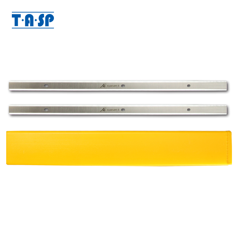 """TASP 2pcs 13"""" Thickness Planer Blades Double Edged Knives 333x12x1.5mm For Delta 22-580 22-590 TP300 Metabo DH330 WEN 6552-043"""