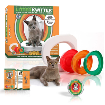 Pet Cat training Toilet Seat Pet Plastic litter Box Tray Kit Professional Trainer Clean Kitten Healthy Cats Human Toilet