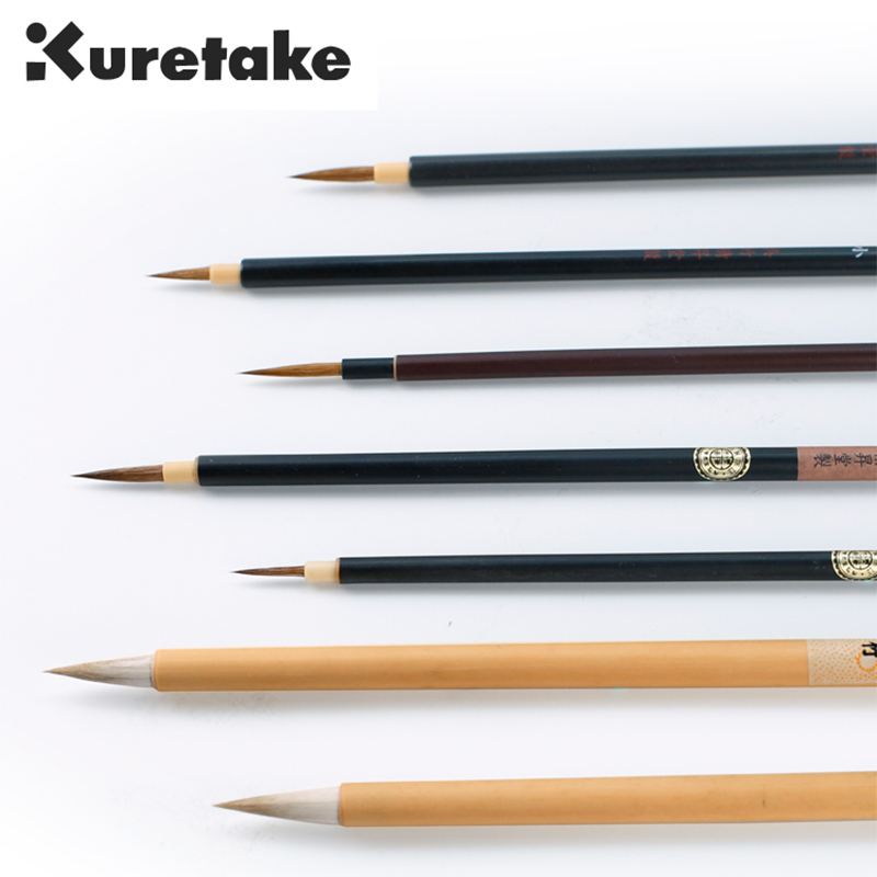 ZIG Kuretake Cartoonist Menso Calligraphy Brush Pen Watercolor Painting Comic Line&Illustration Drawing Mixed Hair Tip Marker