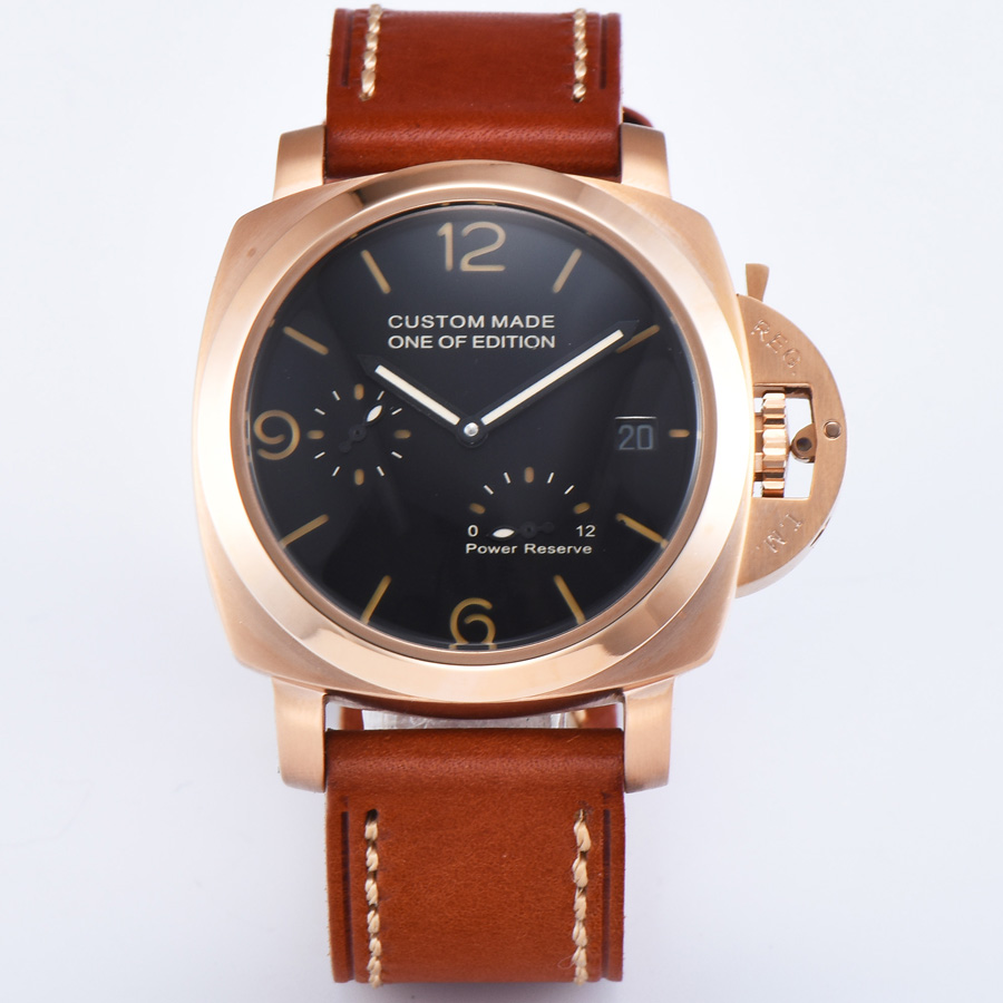 automatic mechanical watch watch men Luminous waterproof  316L Solid stainless steel pvd Leather 42MM NH64