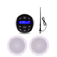 Waterproof Marine Radio Stereo Bluetooth Receiver Audio DAB/DAB+ Outdoor Car MP3 Player+4inch Marine Speaker +FM AM Antenna