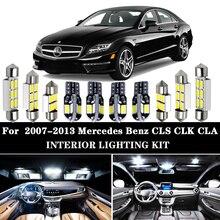 Bombilla LED blanca para Interior de coche Mercedes Benz, Kit de luz de cúpula con mapa, sin errores, para CLS, CLK, CLA, clase W218, W219, W208, W209, C117, 100%