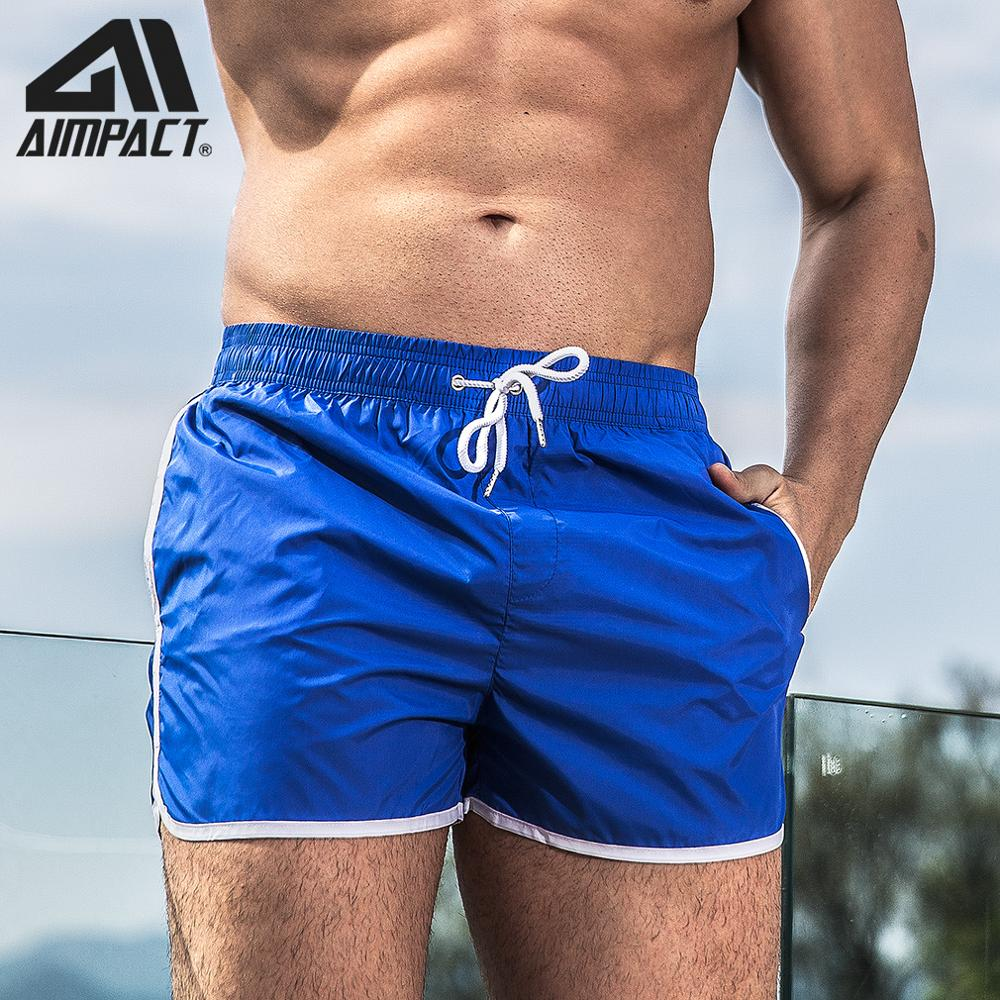 Men Swim Short Beachwear Trunks New Split Ranger Shorts Sport Running Trunks Quick Dry Bathsuits By AIMPACT  AM2256