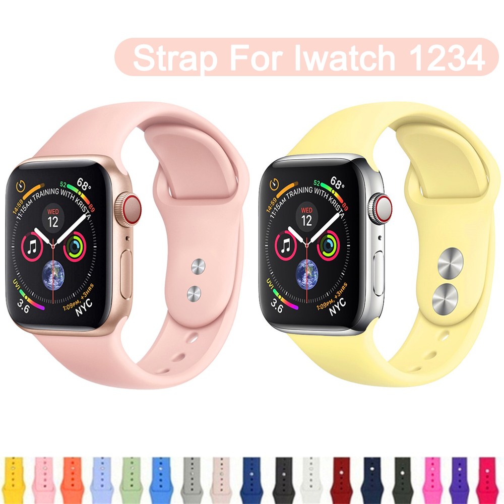 Pretty Wristband For Apple Watch Band 38 42mm IWatch 4 Band 44 40mm Silicone Belt Bracelet Correa Apple Watch 4 3 2 1Accessories