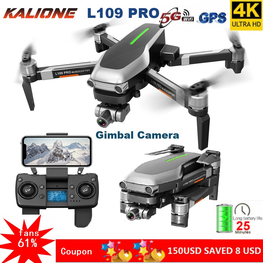 L109 PRO GPS Drone 4K With HD Camera 2 AXIS Gimbal 5G WIFI Profissional Quadrocopter Dron Brushless Drones 1.2KM SD Card VS L109